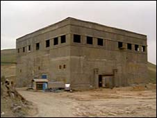 Undated photo released by CIA of alleged nuclear reactor under construction in eastern Syria.