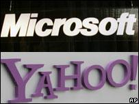 Logos de Microsoft y Yahoo