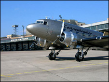 The so-called Candy Bomber plane