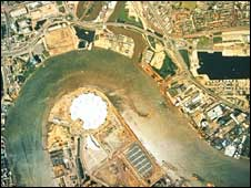 Aerial photograph of London, SPL