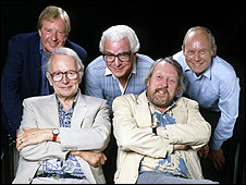Tim Brooke Taylor, Humphrey Lyttelton, Barry Cryer, Willie Rushton, Graeme Garden