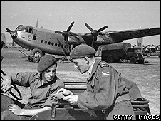British personnel involved in Berlin Airlift, 1948 (file pic)