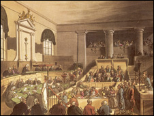 Painting of court session circa 1809