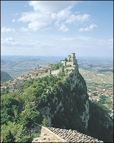 San Marino is a rugged mountain state