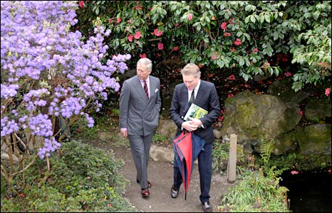Prince Charles sees some of the garden's horticultural collection (Neil Jones/PA Wire)