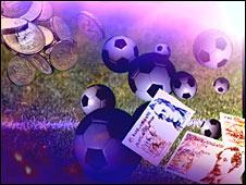 Football gambling graphic