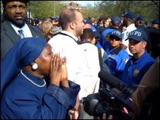 Protestor - Sean Bell trial