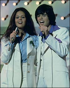 Donny and Marie Osmond in 1974