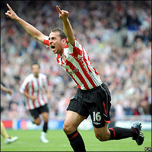 Michael Chopra celebrates firing Sunderland ahead