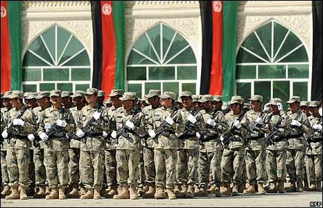 Afghan military at parade