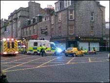 Aberdeen city crash [Pic: Sandy Bremner]