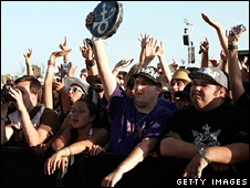 Prince fans at Coachella