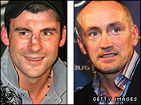 Joe Calzaghe (left) and Barry McGuigan