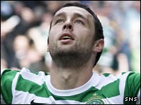 Scott McDonald celebrates scoring for Celtic