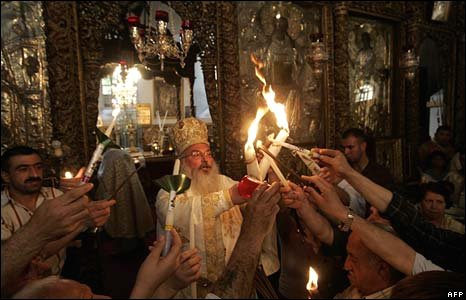 Holy Fire ceremony in Bethlehem - 26 April