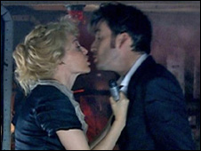 Kylie Minogue and David Tennant in Doctor Who