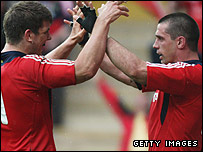 Donncha O'Callaghan and Alan Quinlan