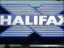 Halifax sign outside a branch of the bank