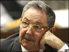 Raul Castro in Cuban National Assembly