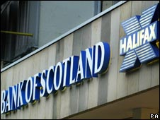 Branches of Bank of Scotland and Halifax in Edinburgh