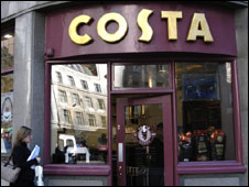 A Costa coffee store in London