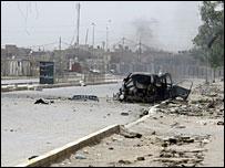 مركبة عسكرية مصابة في العراق