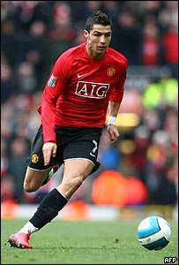 Cristiano Ronaldo en acción.