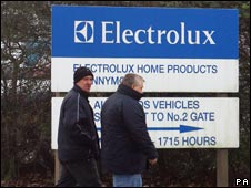 Electrolux factory sign