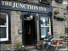 The landlord of the Junction Inn