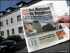 Austrian paper Kronen Zeitung/house in Amstetten case