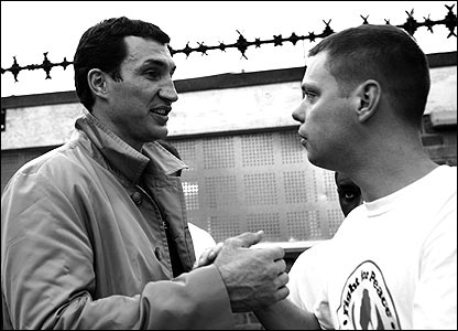 Wladimir Klitschko (left) and Luke Dowdney