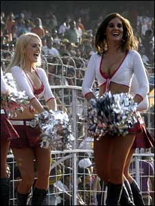 IPL cheerleaders in action in India