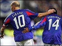 Zinedine Zidane and Vikash Dhorasoo