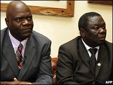 Arthur Mutambara and Morgan Tsvangirai