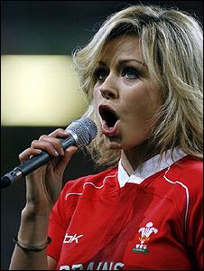 Katherine Jenkins at Cardiff's Millennium Stadium