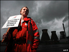 Grangemouth worker on strike