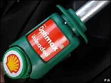 Shell petrol station pump