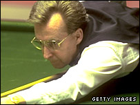 Terry Griffiths in action at the Crucible