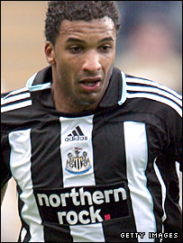 Newcastle defender Habib Beye in action