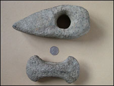 Part of a Bronze Age axe (picture: Clwyd-Powys Archaeological Trust)