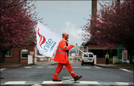 Grangemouth worker walking across zebra crossing
