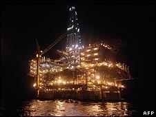 Oil platform off Angola