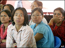 Bhutanese refugees in Nepal camp