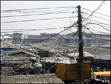 Power cables in Lagos