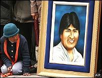 El retrato del presidente de Bolivia