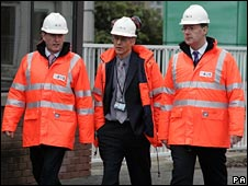 John Hutton, Gordon Grant (Ineos) and John Swinney. Pic by PA