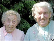 Joyce Burden, 90, (left) and her sister Sybil, 82