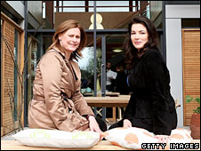 Sarah Brown and Nigella Lawson at Maggie's Centre, Charing Cross