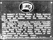 Image of the Madoc plaque in Mobile Bay