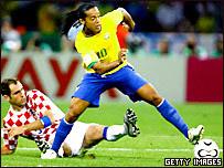 Ronaldinho con la selecci�n brasile�a